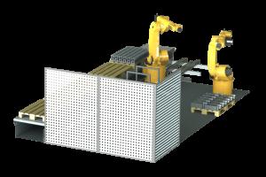 Robotiikka osana tuotantolinjaa.