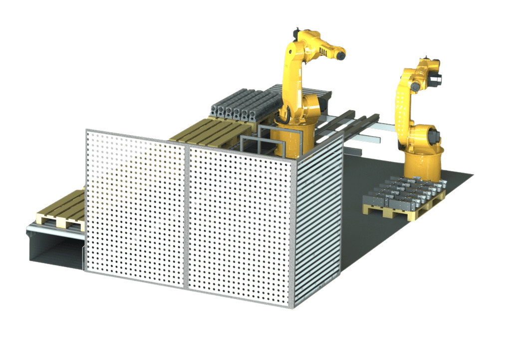 Robotit tuotantosolussa.